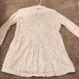 Lilly Pulitzer White Tunic